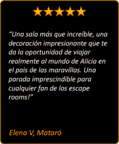 Escape room Alicia en el Pais de las Maravillas